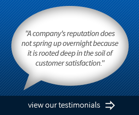 Cartoon quote bubble for company testimonials